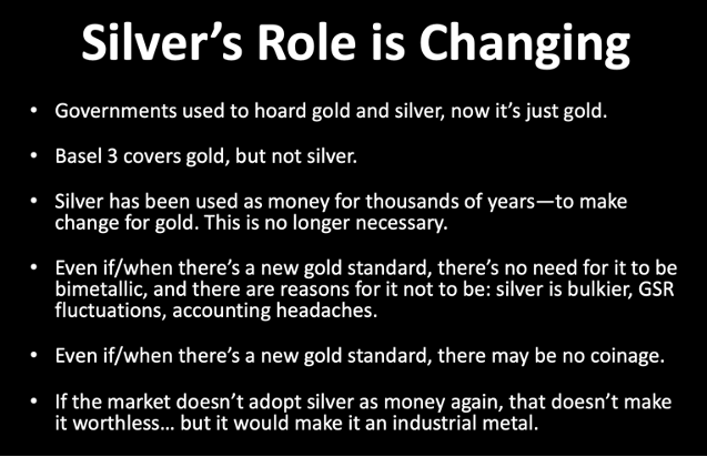 Silver's Role is Changing